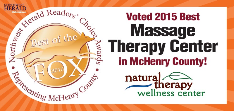 Best Massage Therapy Center in McHenry County for 2015 as voted by readers of the Northwest Herald.