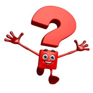 Cartoon Character of Question Mark with hello pose