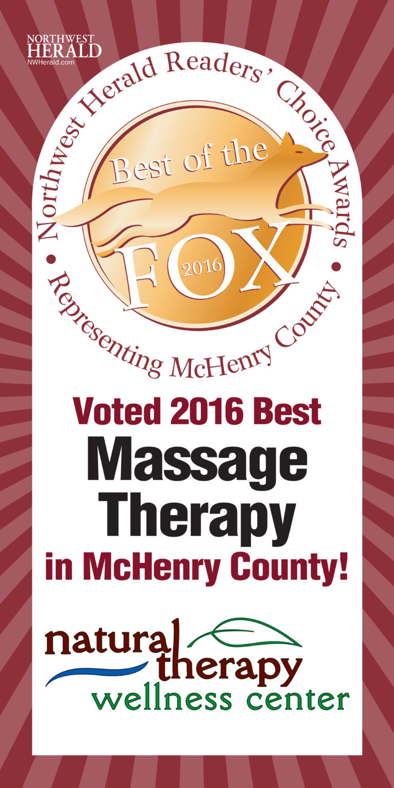 Voted The Best Massage Therapy Center in 2016 in McHenry County, IL